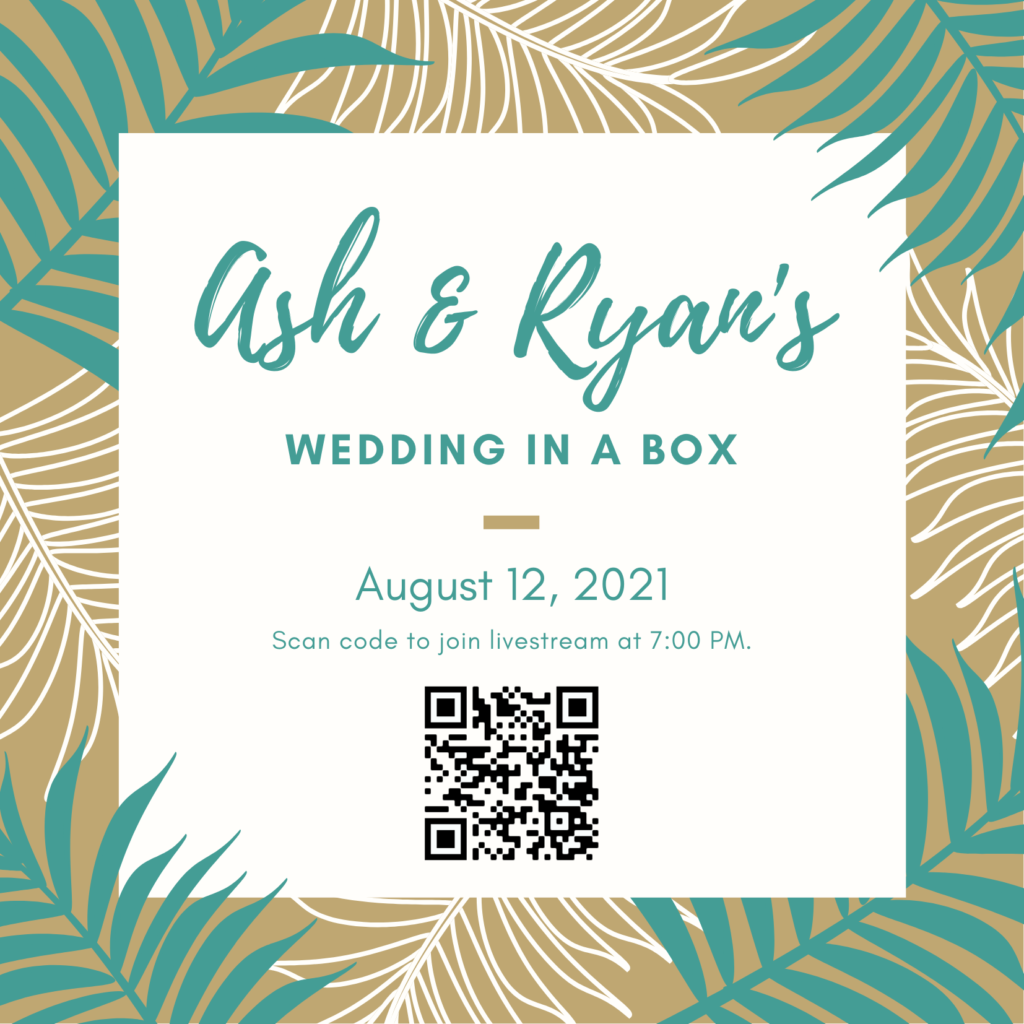 QR code label to join a virtual wedding